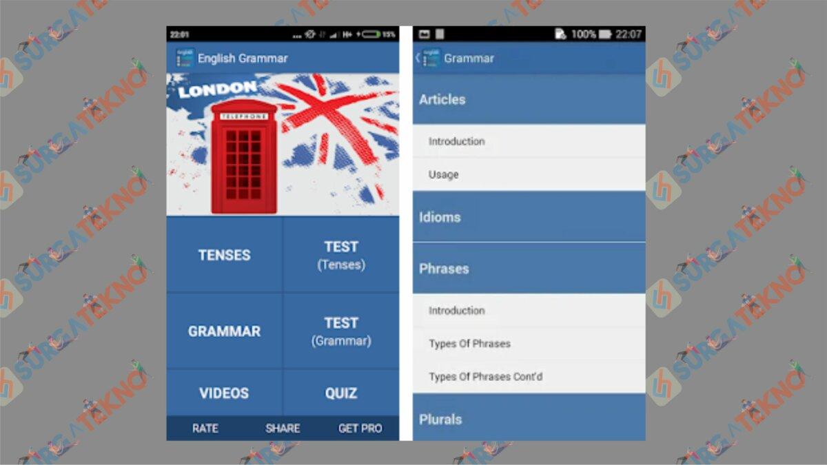 Learn English Grammar Quickly - Aplikasi Belajar Bahasa Inggris