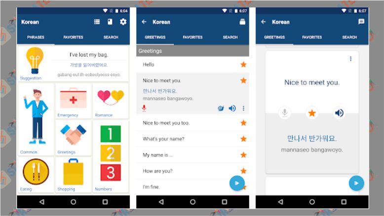 Learn Korean Phrases - Aplikasi Belajar Bahasa Korea