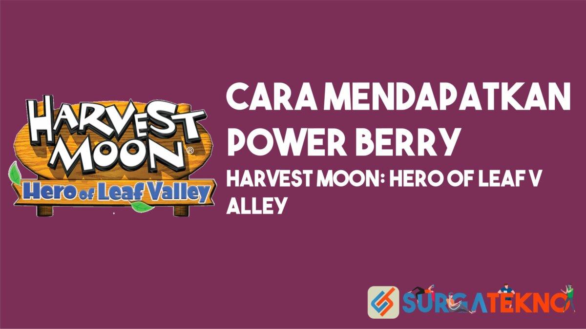 Cara Mendapatkan Power Berry Harvest Moon Hero Of Leaf Valley