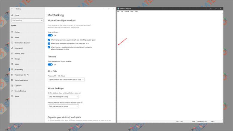 Mengubah Ukuran Split Screen Windows 10 - Cara Membagi Layar (Split Screen) Di Windows 10