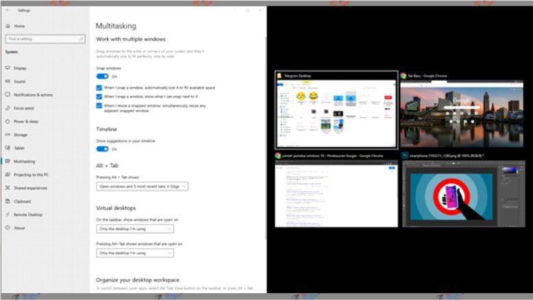 Split Screen Windows 10 - Cara Membagi Layar (Split Screen) Di Windows 10
