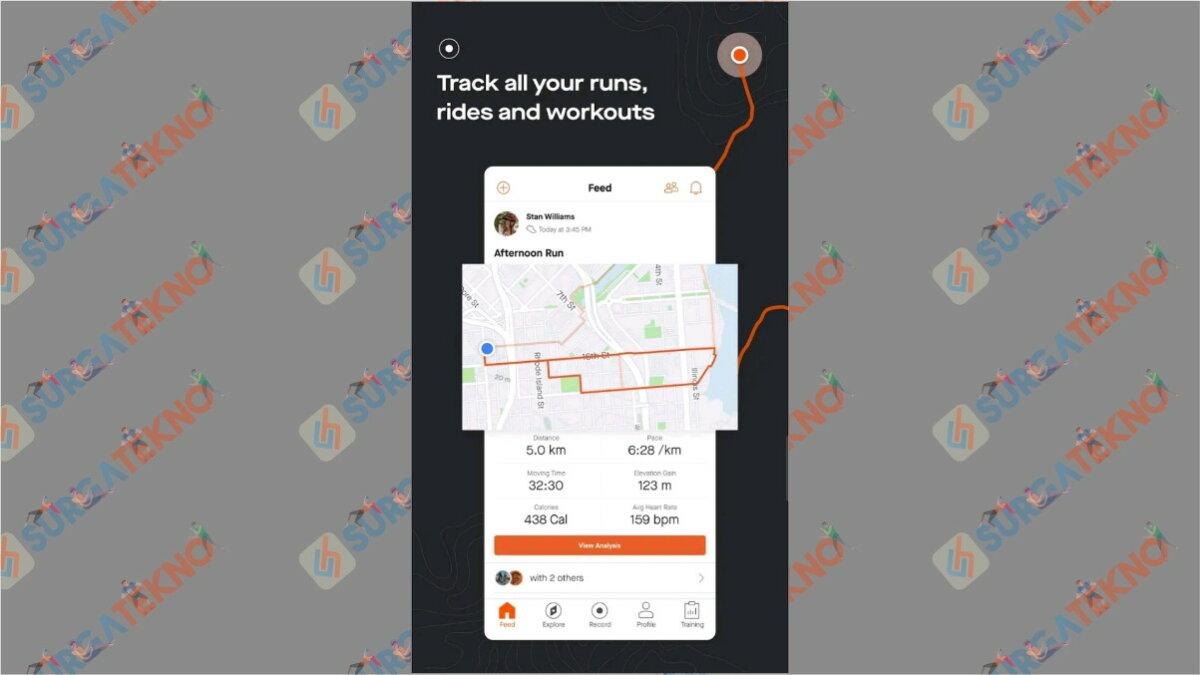 Strava - Aplikasi pengukur jarak lari
