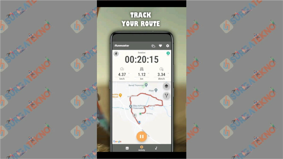Run Master - Aplikasi pengukur jarak lari