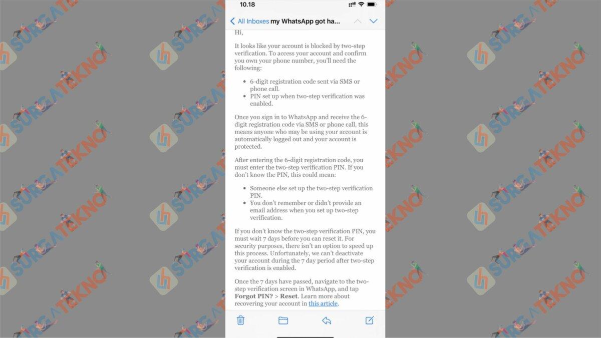 Menunggu 7 Hari Untuk Reset PIN - Cara Mengatasi Akun WhatsApp Kena Hack