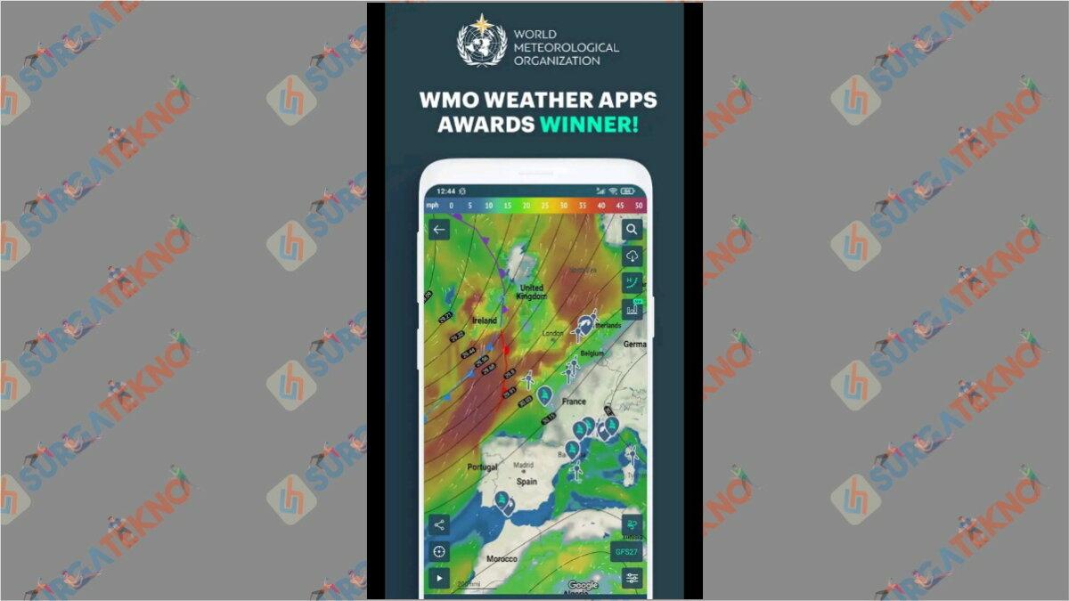 Windy.App - Aplikasi cuaca terbaik