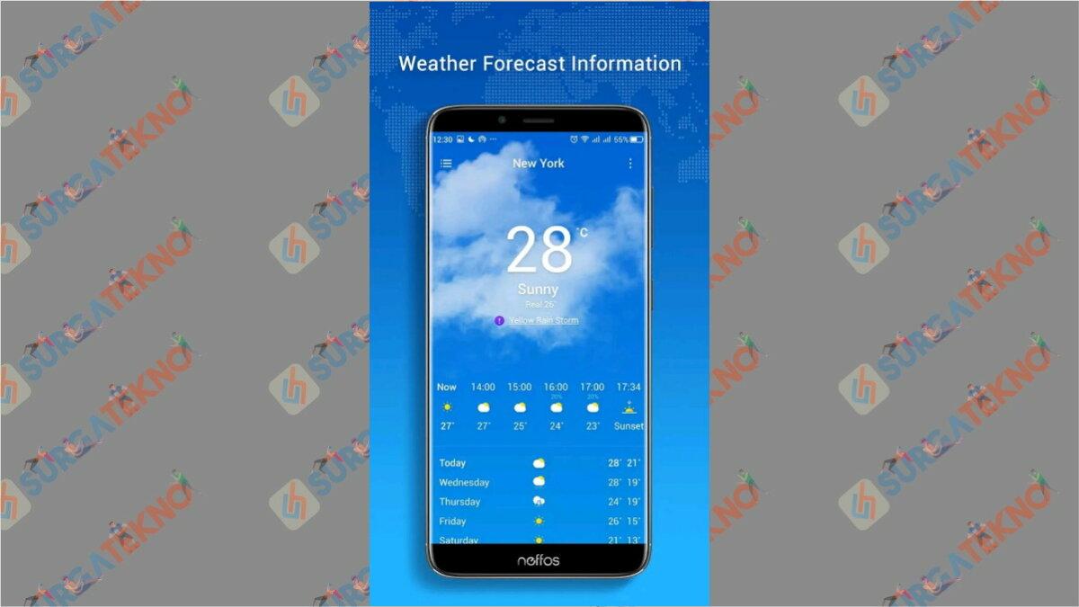 Neffos Weather - Aplikasi cuaca terbaik