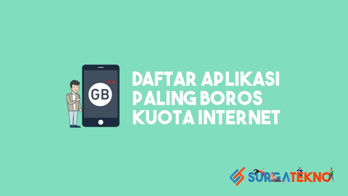 Benar 10 Aplikasi Paling Boros Kuota Internet Terinstal Di Smartphone