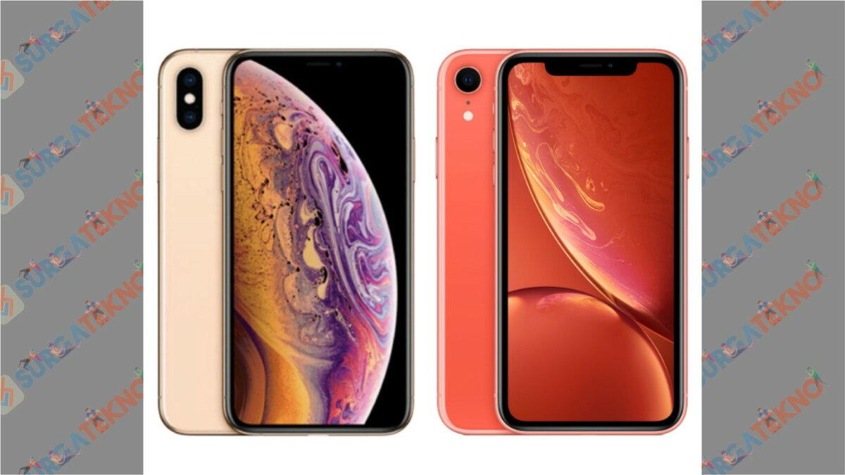 iPhone XS (Kiri) - iPhone XR (Kanan)