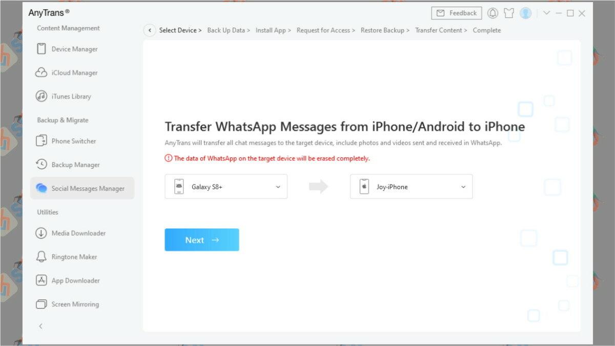 Cara pindah chat WhatsApp dari Android ke iPhone