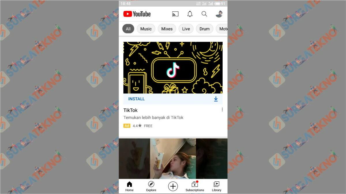 Langkah Pertama - Cara Nonton TV Lewat YouTube