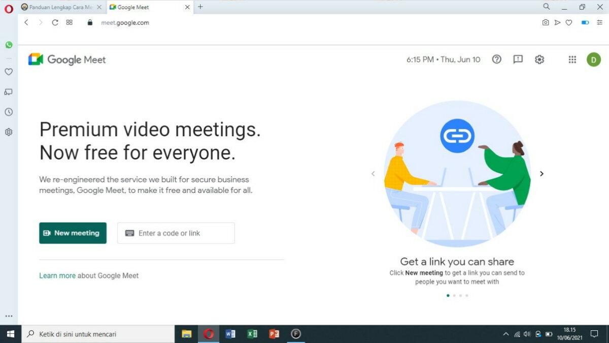 Langkah Pertama - Cara Menggunakan Google Meet Gratis