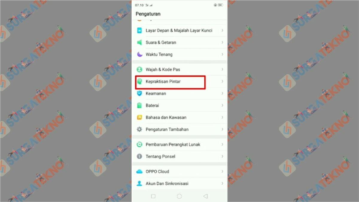 Langkah pertama - Cara Menghidupkan Layar HP Oppo dengan Ketukan