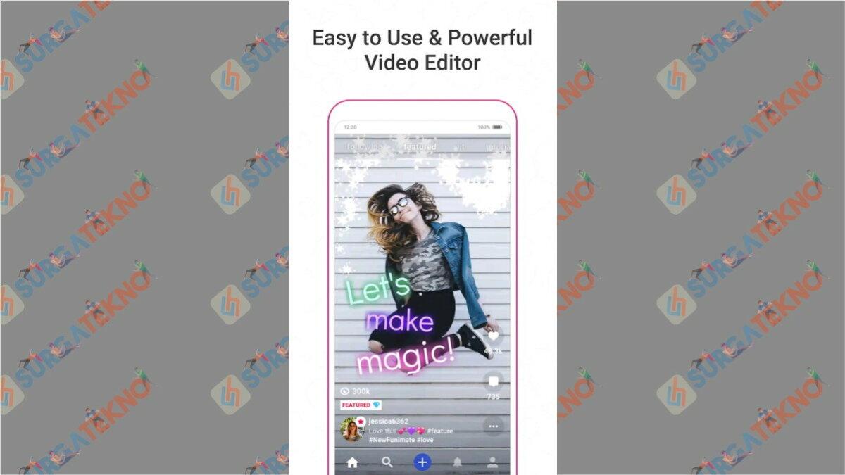 Funimate - aplikasi edit video di hp terbaik