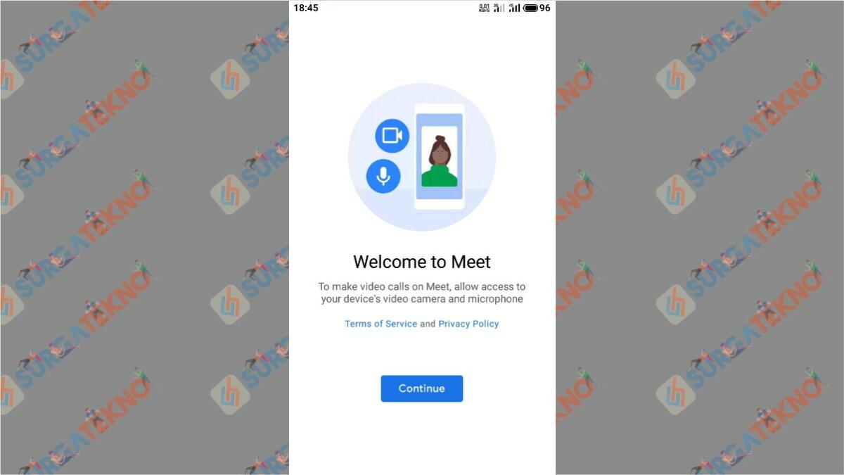 Langkah Kedua  - Cara Menggunakan Google Meet Secara Gratis