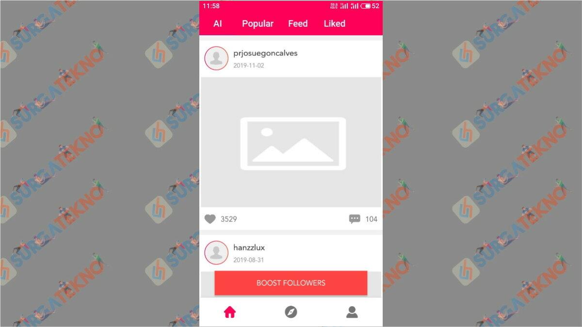 langkah kedua - Cara menambah followers ig dengan aplikasi