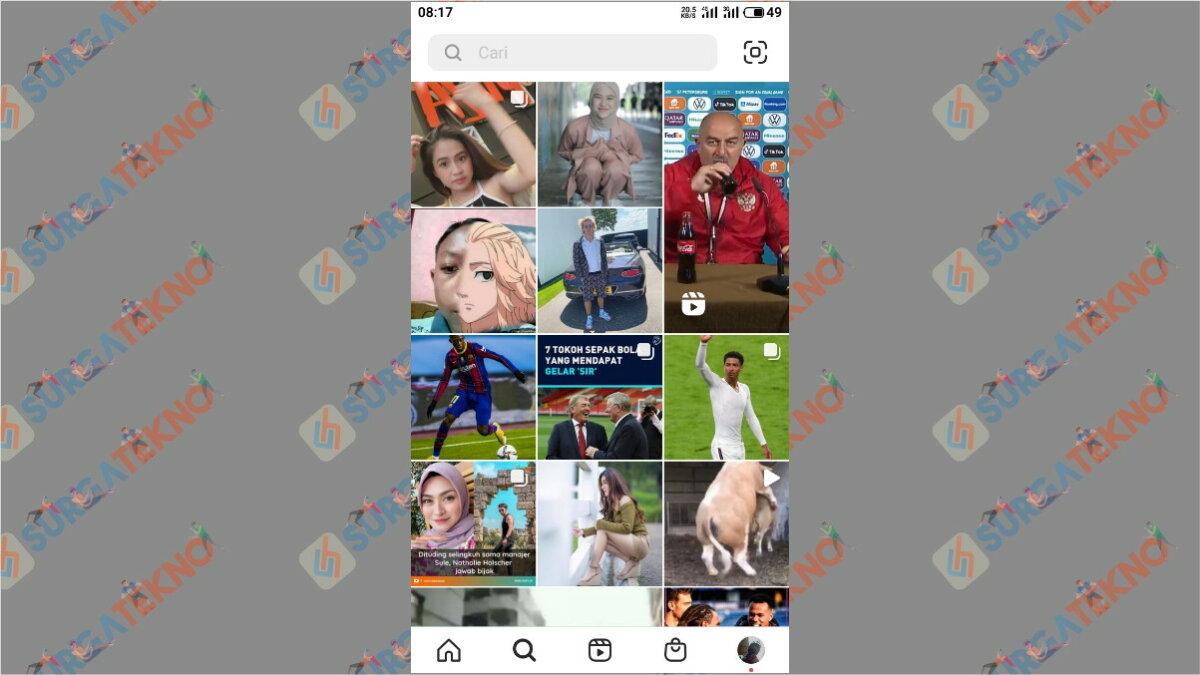 Langkah kedua - Cara Mencari Akun Instagram Orang Di Sekitar Kita Dengan Jarak Terdekat