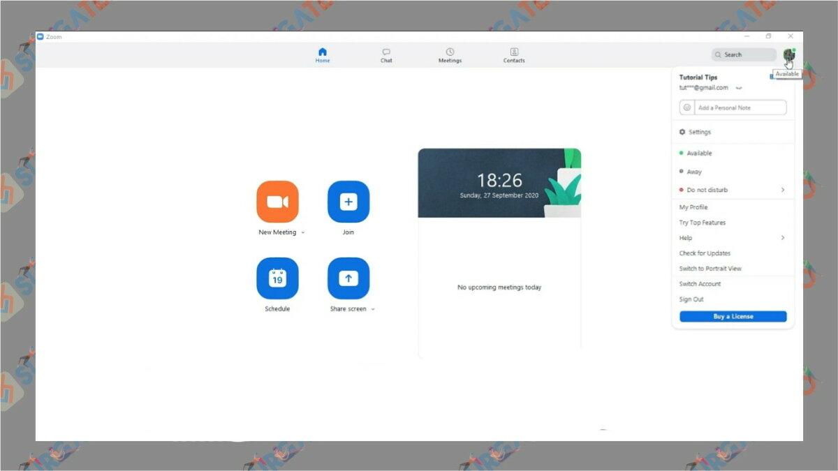 Langkah kedua - Cara update zoom di laptop