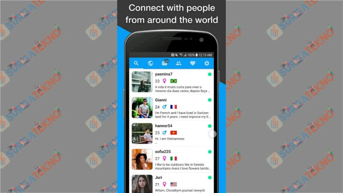 Unbordered - Aplikasi chatting dengan bule