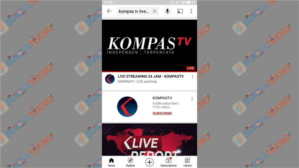 Langkah Ketiga - Cara Nonton TV Lewat YouTube