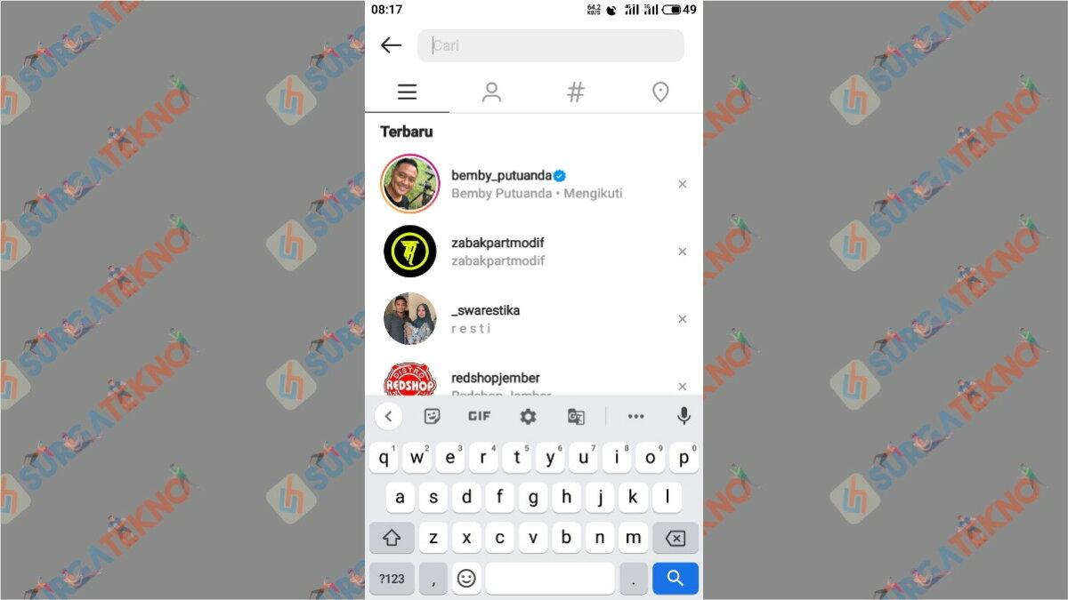 Langkah ketiga - Cara Mencari Akun Instagram Orang Di Sekitar Kita Dengan Jarak Terdekat
