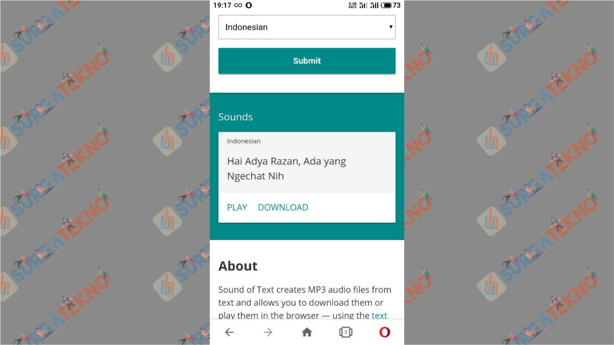 Langkah ketiga - Cara Agar Notifikasi WhatsApp Bersuara Seperti Google