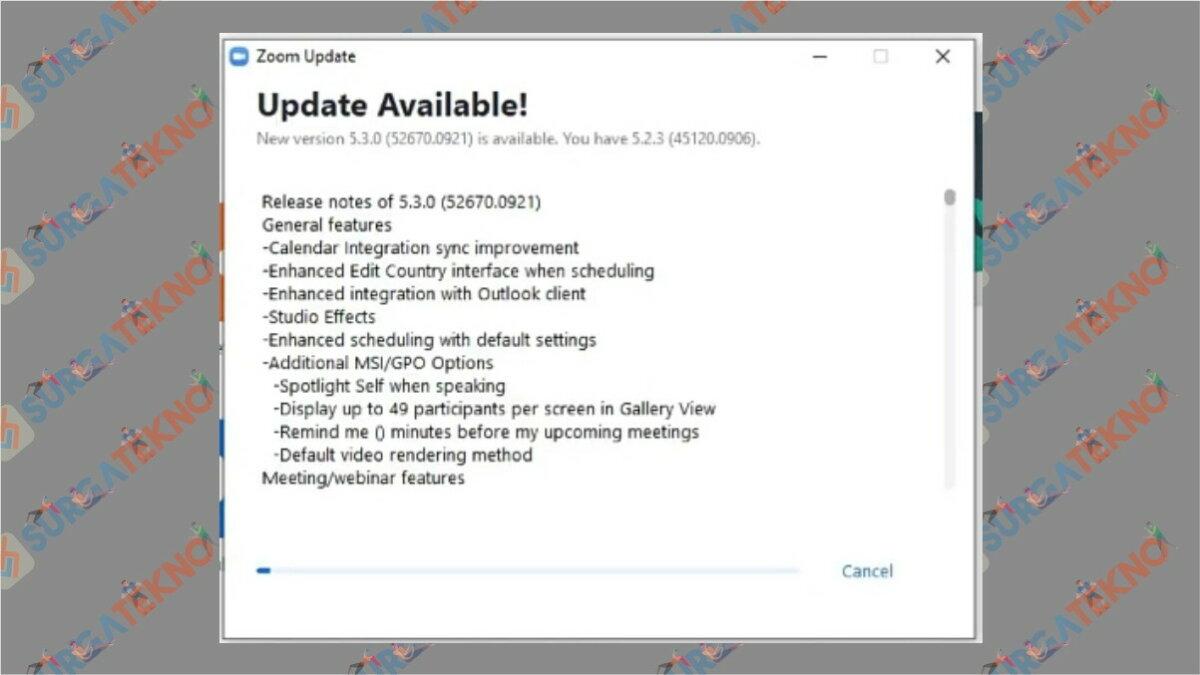 Langkah ketiga - Cara update zoom di laptop