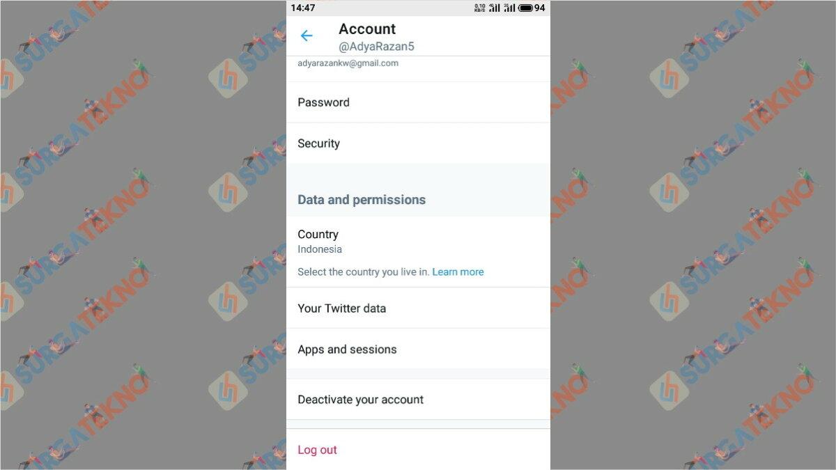 Langkah keempat - cara hapus akun Twitter