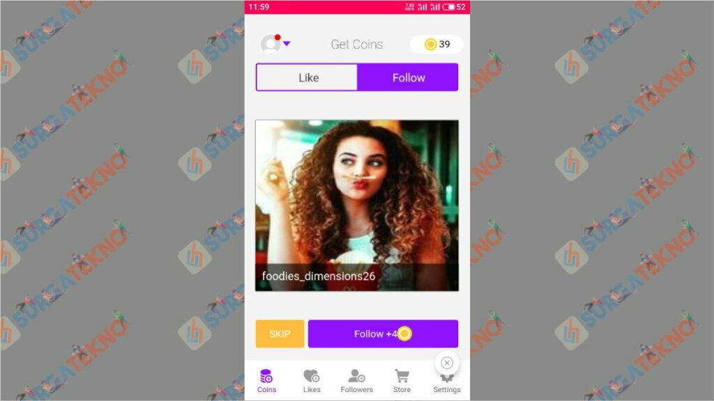 langkah keempat - Cara menambah followers ig dengan aplikasi