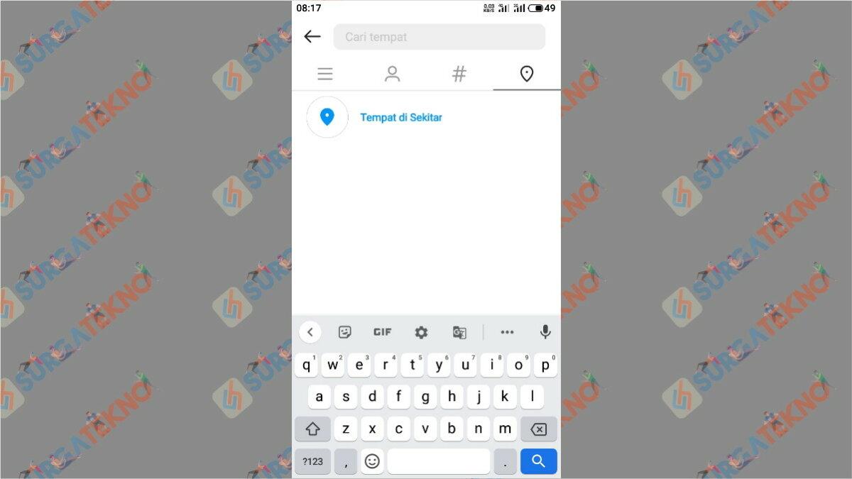 Langkah keempat - Cara Mencari Akun Instagram Orang Di Sekitar Kita Dengan Jarak Terdekat