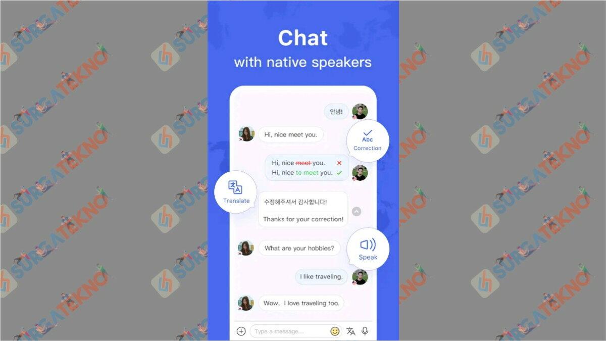 HelloTalk - Aplikasi chatting dengan bule