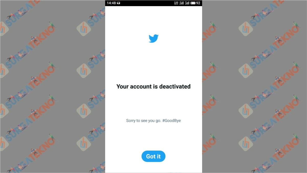 Langkah terakhir - cara hapus akun Twitter