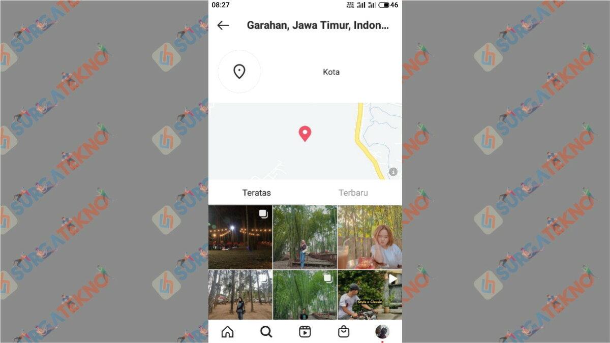 Langkah keenam - Cara Mencari Akun Instagram Orang Di Sekitar Kita Dengan Jarak Terdekat