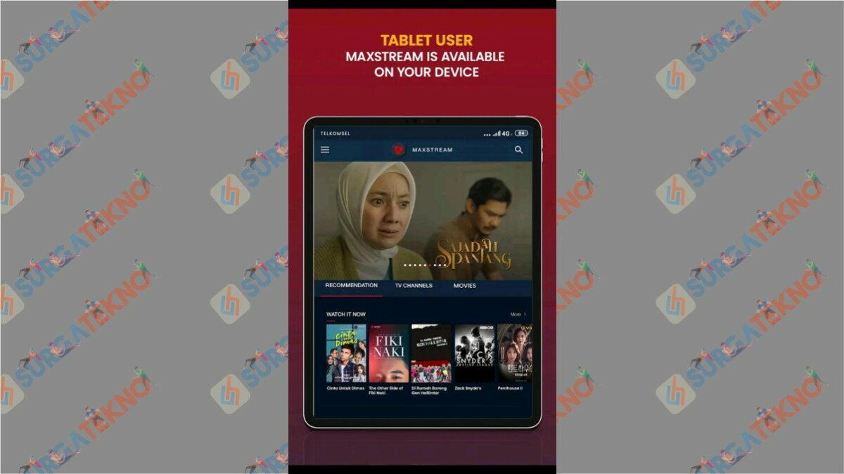 MAXstream - Aplikasi Live Streaming Euro 2020
