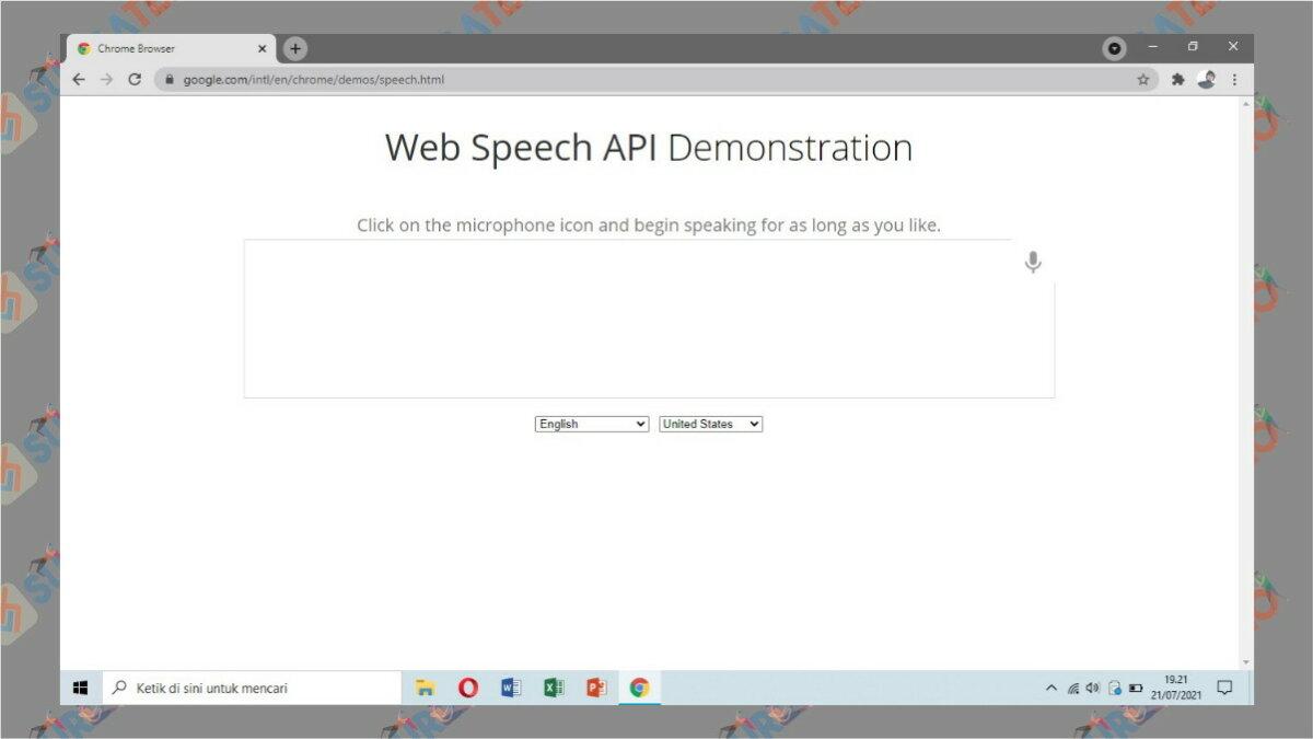 Gambar Langkah pertama - Cara Transkip Suara Menjadi Teks via web speech API Demonstration