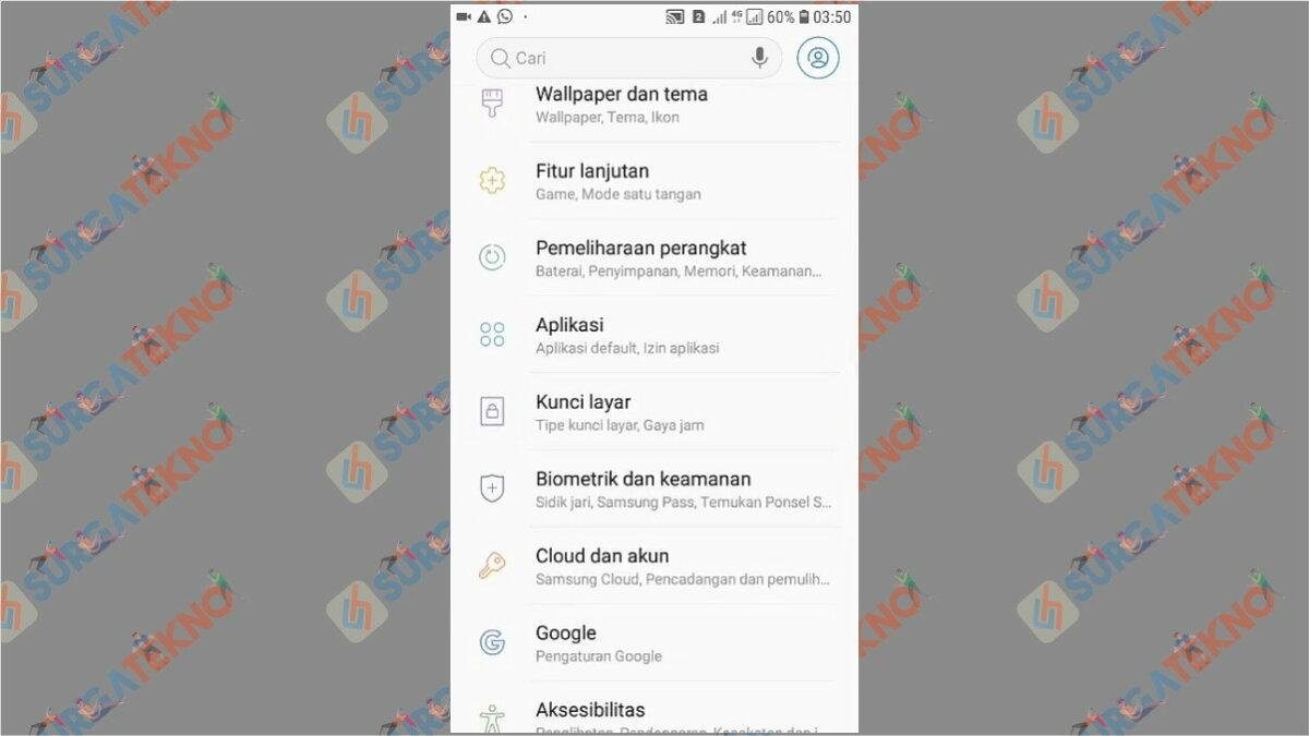 Gambar Langkah pertama - Cara Membuka WhatsApp yang Terkunci Sidik Jari (Tanpa Scan / Aplikasi)