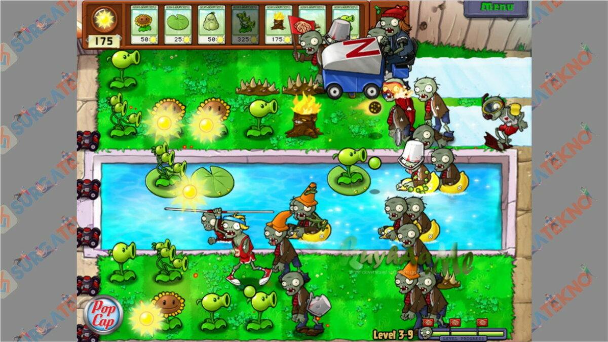 Screenshoot Gameplay Plants Vs Zombie