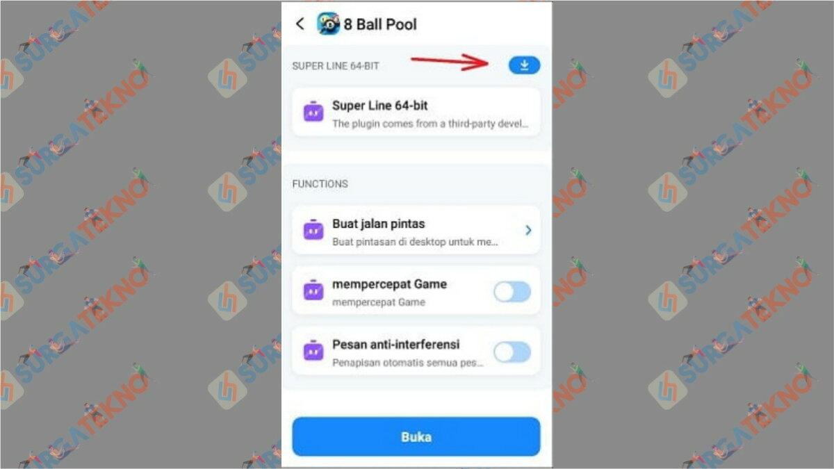 Gambar Langkah kedua - Cara Cheat 8 Ball Pool Garis Panjang Pantul