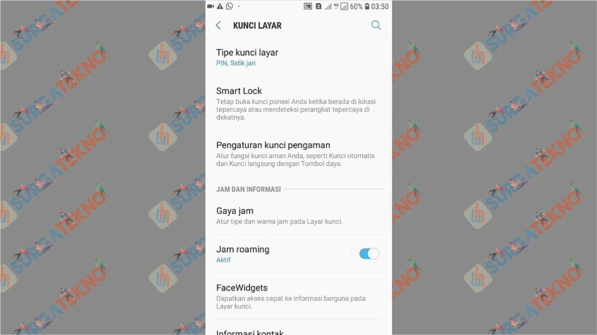 Gambar Langkah kedua - Cara Membuka WhatsApp yang Terkunci Sidik Jari (Tanpa Scan / Aplikasi)