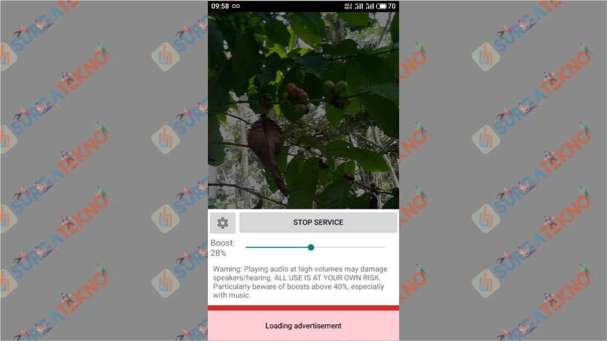 Langkah kedua - Cara Memperbesar Volume Suara Video di Android
