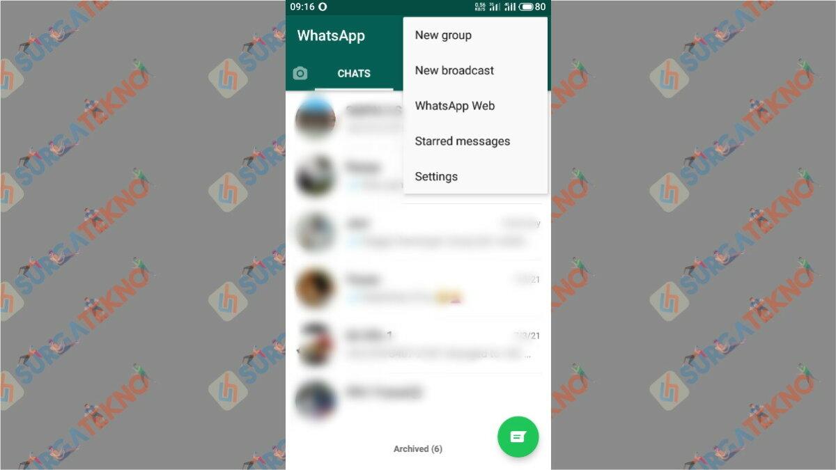 Gambar Langkah kedua - cara mengunci WhatsApp dengan Sidik Jari
