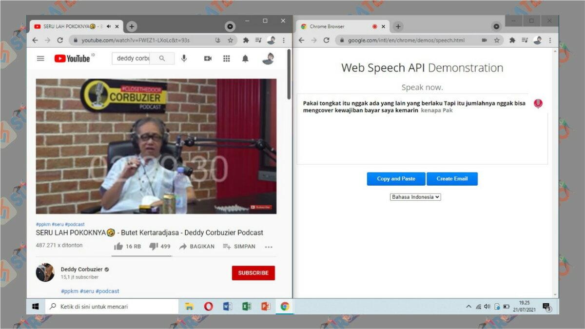 Gambar Langkah terakhir - Cara Transkip Suara Menjadi Teks via web speech API Demonstration