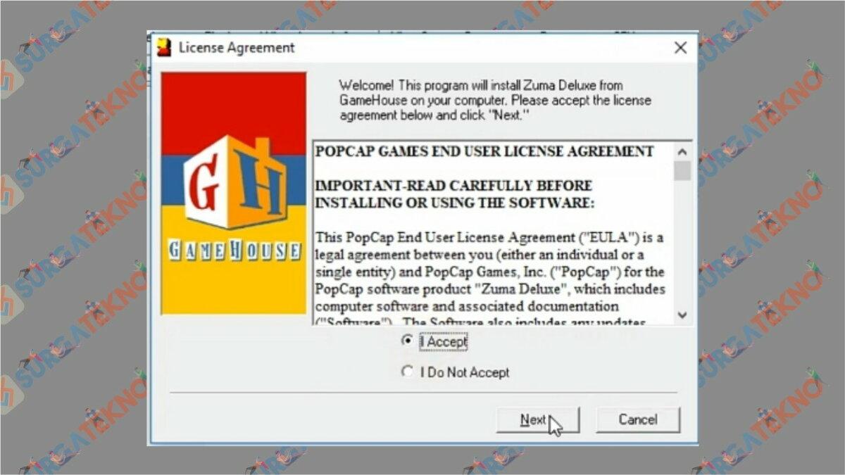 Gambar Langkah ketiga - Cara Install Zuma Deluxe
