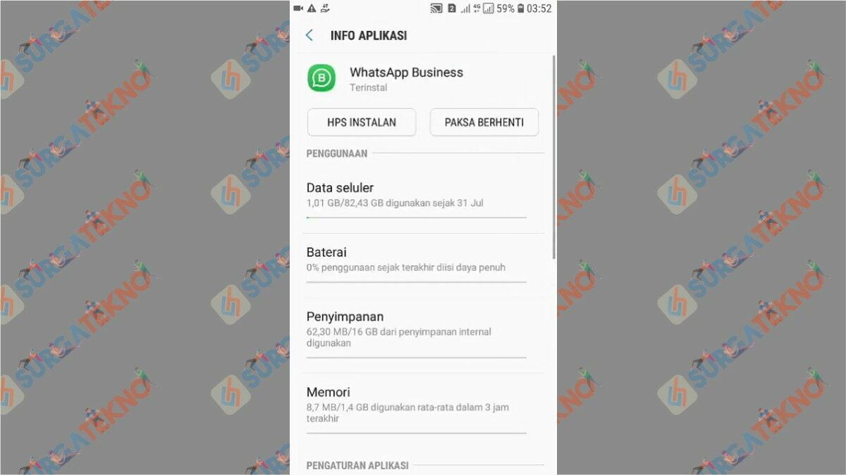 Gambar Langkah ketiga - Cara Membuka WhatsApp yang Terkunci Sidik Jari (Tanpa Scan / Aplikasi)