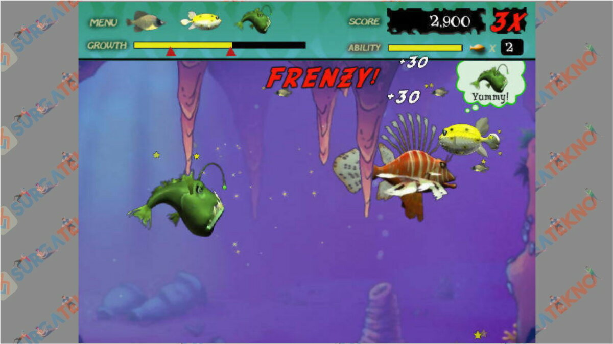 Screenshoot Gameplay Feeding Frenzy