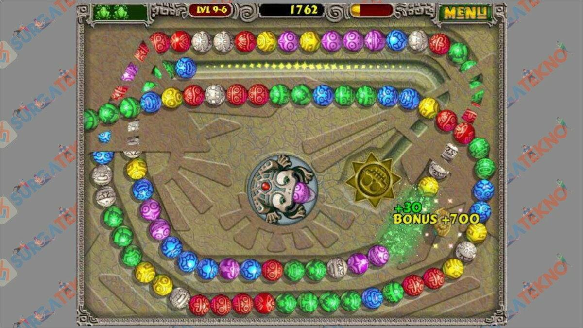 Screenshoot Gameplay Zuma Deluxe