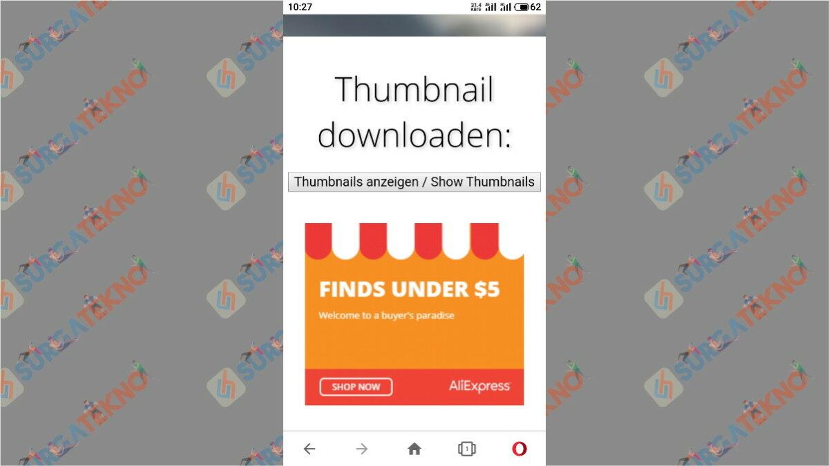 Cara ketiga - cara download thumbnail youtube