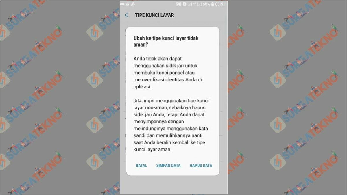 Gambar Langkah keempat - Cara Membuka WhatsApp yang Terkunci Sidik Jari (Tanpa Scan / Aplikasi)