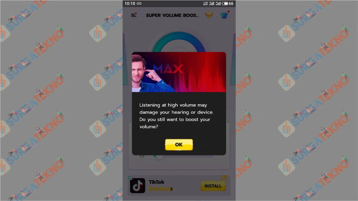 Langkah keempat - Cara Memperbesar Volume Suara Video di Android