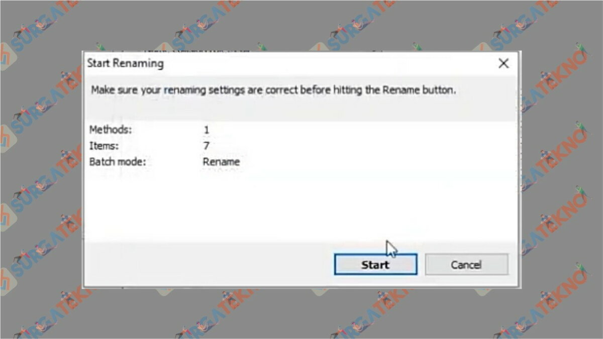 Gambar Langkah kelima - Cara Menggunakan Advanced Renamer