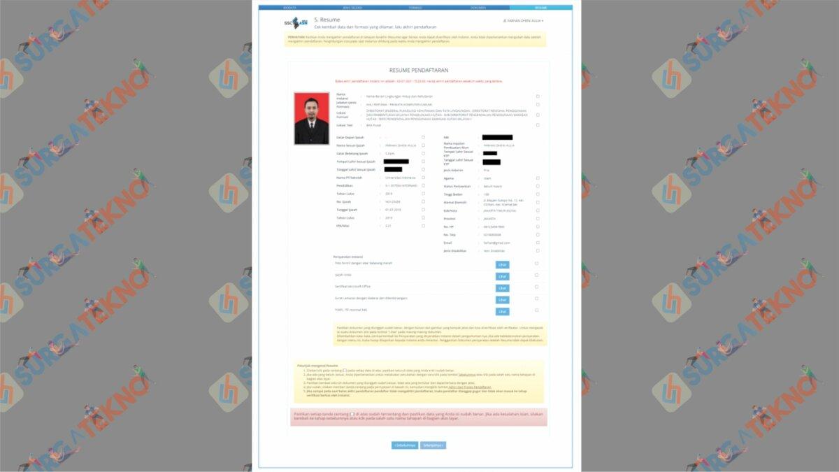 Akhiri Pendaftaran Dan Cetak Kartu SSCASN 2021 - Cara Cetak Kartu Informasi Akun SSCASN 2021